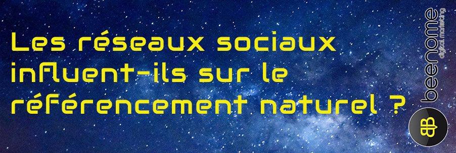 réseaux sociaux référencement naturel
